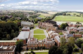 College - aerial view